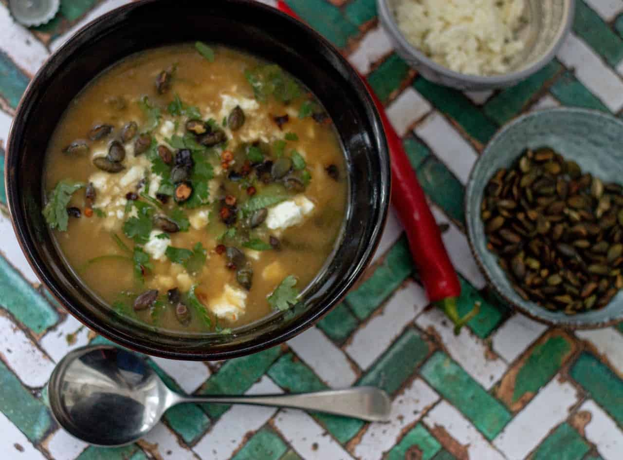 How to Make Delicious Vegan Green Chilli Soup with Hominy