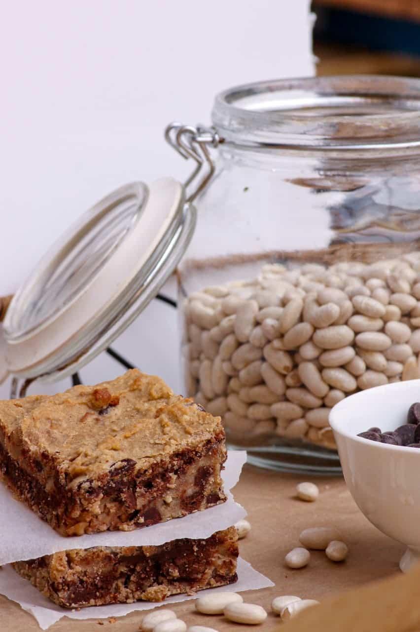 How to Make Gluten Free Vegan White Bean Blondies