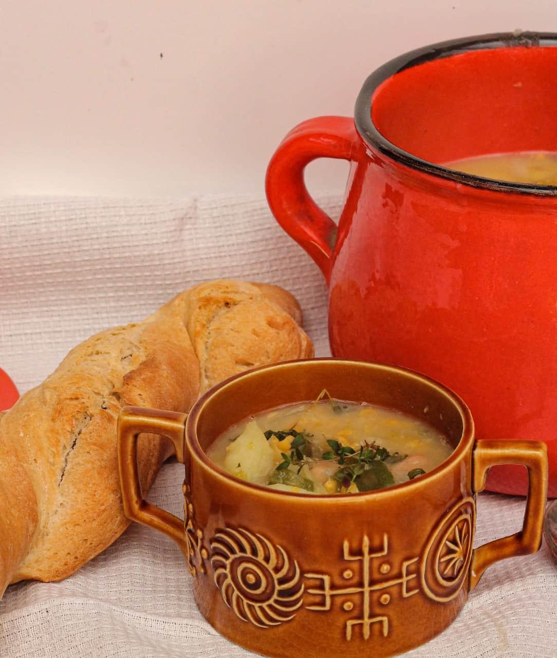 Simple Vegan White Bean, Potato and Corn Chowder Recipe