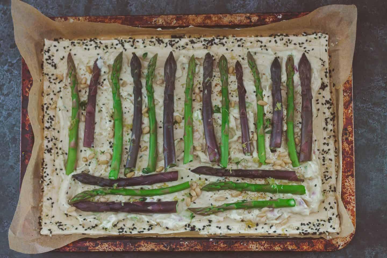 Easy Vegan Puff Pastry Asparagus Tart