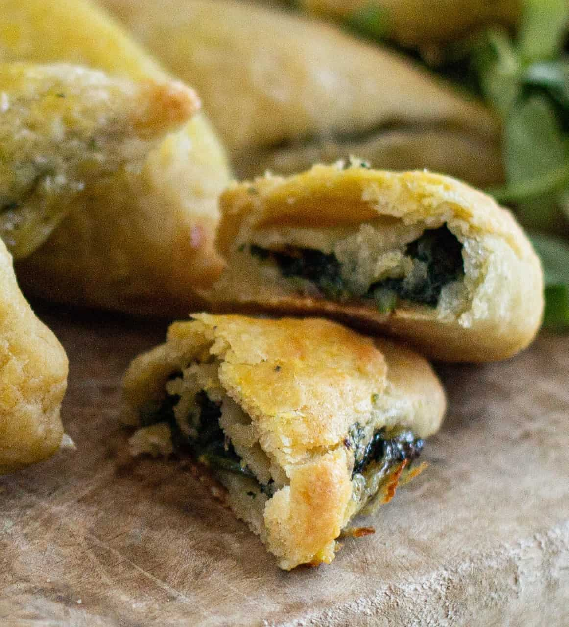 How to Make Truffle and Spinach Triangless