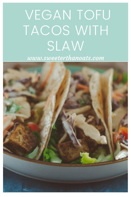 Vegan Tofu Tacos with Cajun Slaw